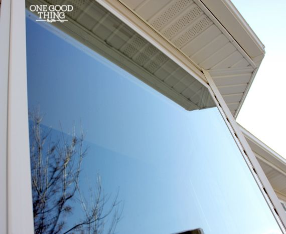 how to clean exterior windows without streaks