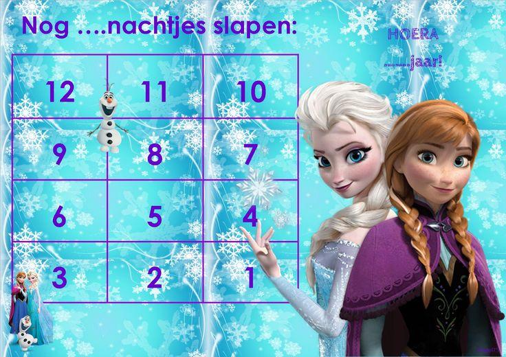 Frozen - Aftelkalender Wanneer je dit als bestandje wil ontvangen, dan verneem ik dat graag