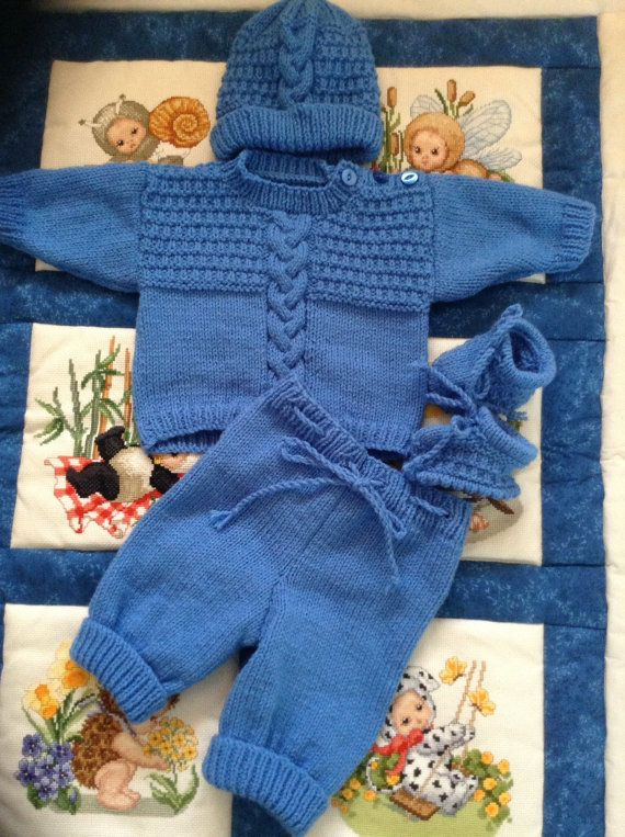 Bebé recién nacido Coming Home suéter pantalones por Meganknits4charity