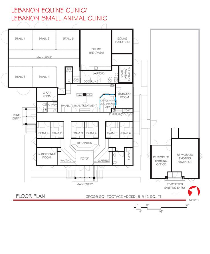 Veterinary floor plan: Lebanon Equine Clinic/Lebanon Small Animal Clinic