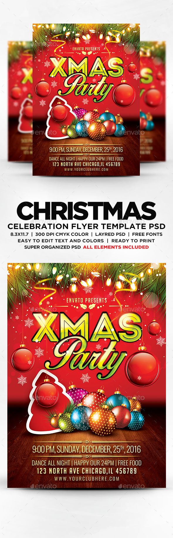 17 best christmas psd templates images on pinterest christmas xmas party flyer events flyers stopboris Choice Image
