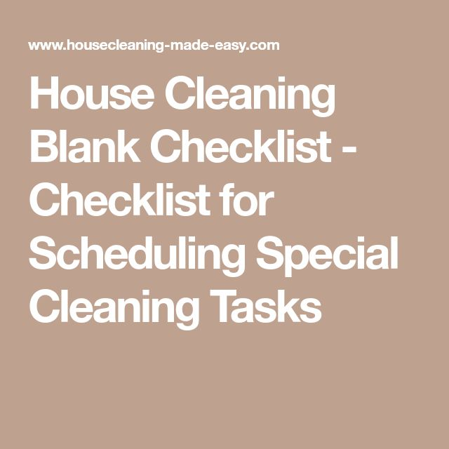 blank house cleaning checklist - 640×640