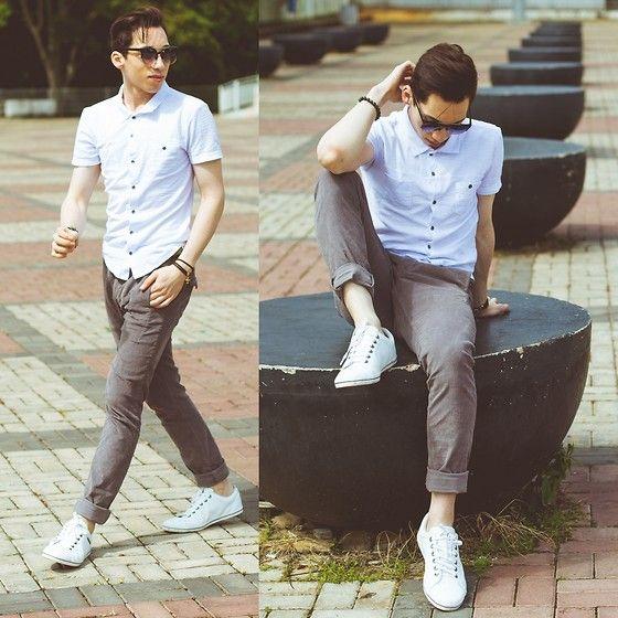 Look Masculino com Tênis Branco