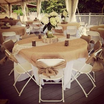 Rustic Wedding - Burlap Tablecloths $500