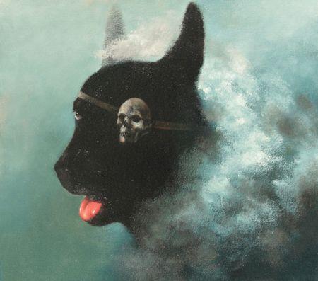Visual artist Samuli Heimonen PIRATE. Acrylic and oil on canvas. 2011