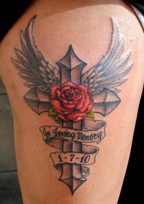 In Loving Memory Tattoo Drawings : loving, memory, tattoo, drawings, Memory