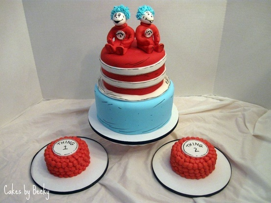 Resultado de imagen para birthday cake for twins