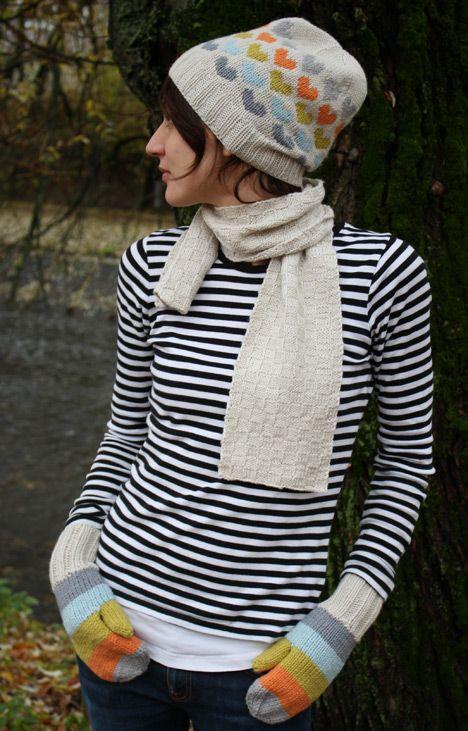 Knit heart hat
