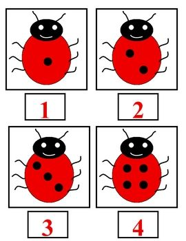 Here's a set of cards for matching ladybugs to numbers, just count the spots! Includes numbers 1-20.