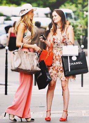 Serena and Blair , me and my best friend are like them minus the Chanel bags , gossip girl