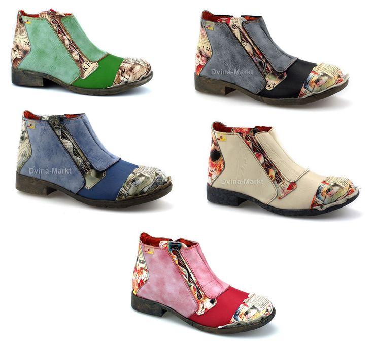 Details zu TMA Damen Stiefeletten Leder Boots Damenschuhe Freizeitschuhe  Neu 5335
