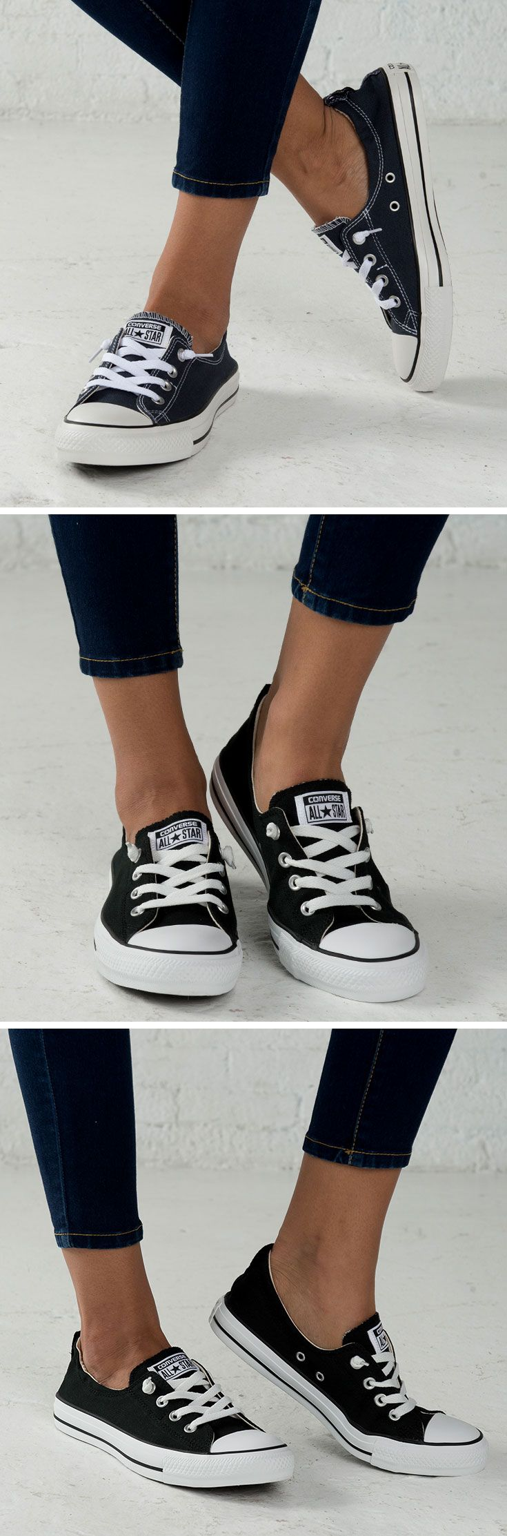 Converse Shorelines — fashionable, feminine, and comfortable. Slip on a pair to complete your summer wardrobe!