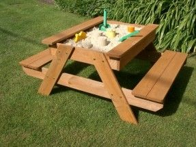 childrens picnic table with sandbox plans - Google Search