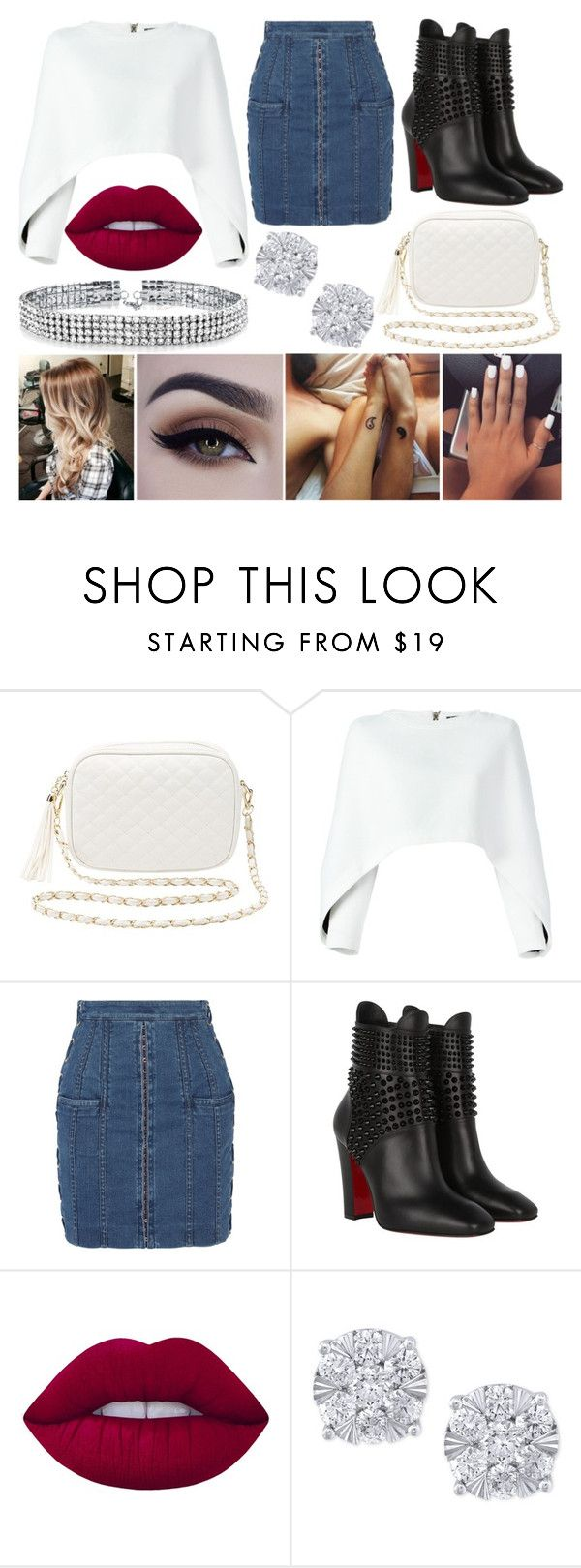 """""""Summer Dinner"""" by susanna-trad on Polyvore featuring Charlotte Russe, Balmain, Christian Louboutin, Lime Crime, Effy Jewelry and Bling Jewelry"""