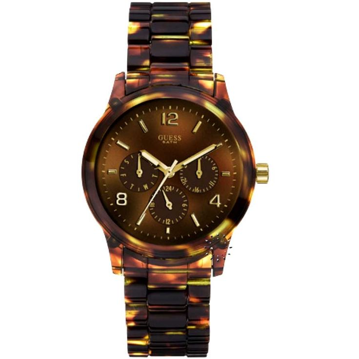GUESS Mini Spectrum Chronograph Tortoise Look Resin Η τιμή μας: 110€ http://www.oroloi.gr/product_info.php?products_id=19467