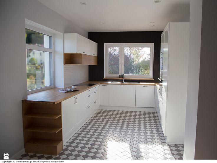 Widok kuchni z salonu - zdjęcie od DoMilimetra - Kuchnia - Styl Skandynawski…