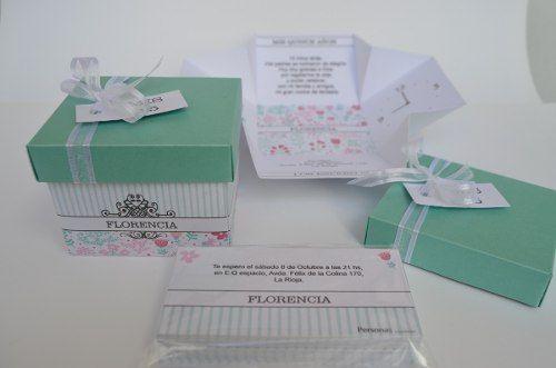 participaciones invitaciones tarjetas cajitas 15 años