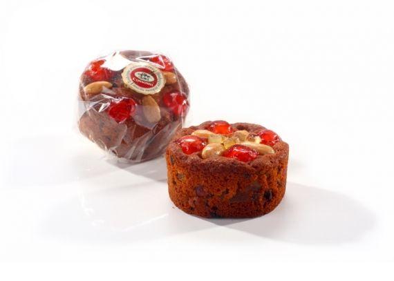 Keksik Przekąska z bardzo dużą ilością owoców kandyzowanych z dodatkiem ciemnego cukru trzcinowego.