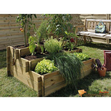 carr de potager en bois trait en escalier 3 hauteurs up bu434 jardin piscine jardin. Black Bedroom Furniture Sets. Home Design Ideas