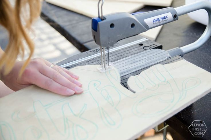 So that's how it's done! Hand lettered cutouts using a @Dremel Moto Saw #Sponsored