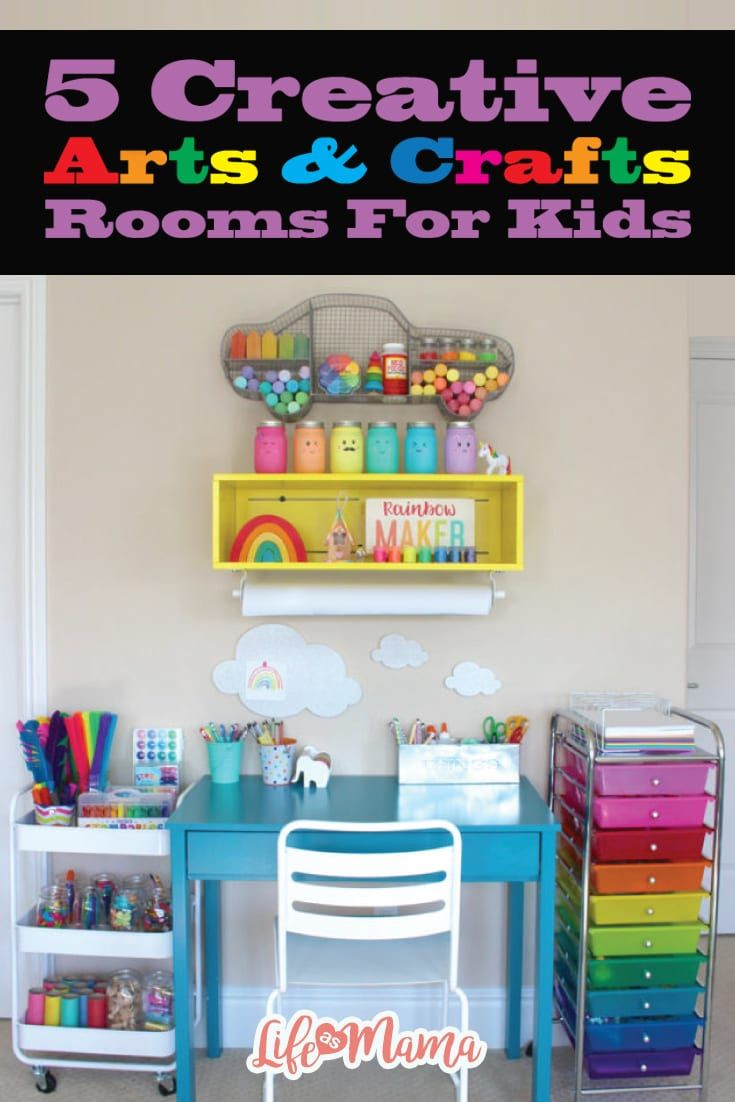 5 Creative Arts Crafts Rooms For Kids Craft Room Creative Arts And Crafts Fun Arts And Crafts Arts and crafts room