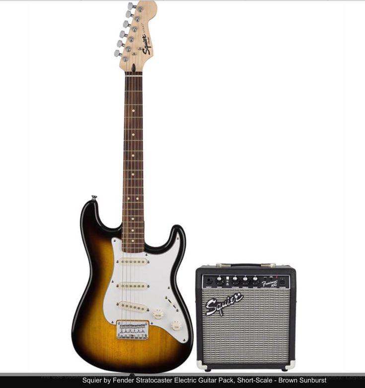 FENDER-SQUIER-STRAT-SUNBURST-MODEL-E WITH AMP AND ACCESSORIES