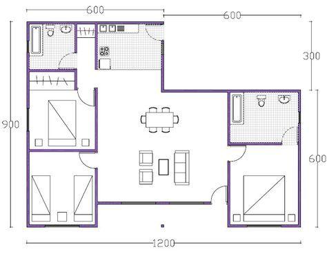 Las 25 mejores ideas sobre interiores de casas peque as for Casa tipo 50 metros cuadrados 2 habitaciones