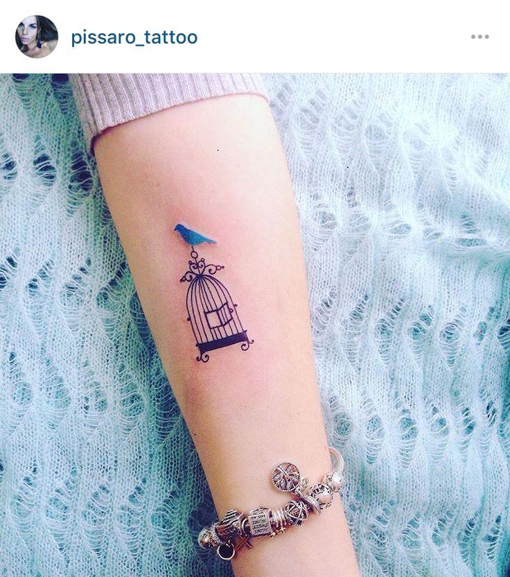 Bird cage, simplistic, nature, fantasy tattoo