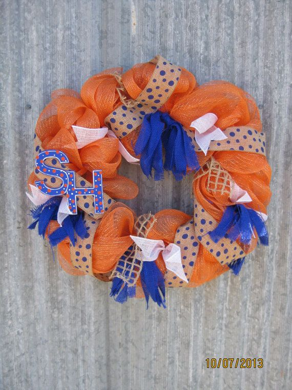 SHSU Deco Mesh Wreath Sure to be a Winner by cntrysisters on Etsy, $65.00
