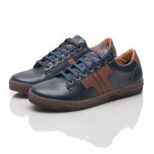 Tisza Shoe - model Tradition II. - blue  / mahagony