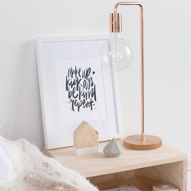 Bedside Table Perfection We Love How Lilyjaneboutique Has Styled Her Freedomnz Copper Metro Lamp 149 Are So Thrilled To