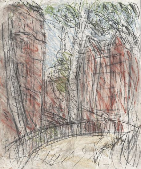 Leon Kossoff Arnold Circus, 2012 charcoal and pastel on paper 24 1/4 x 19 7/8 in. (61.5 x 50.5 cm)