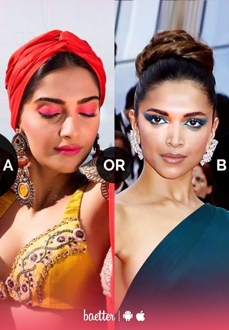 Which bright #eyeshadow look do you love #SunsetEyeshadow or #TealEyeshadow? Vote on Baetter App