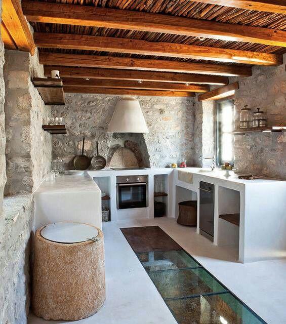 Cocina rústica griega / Greek rustic kitchen