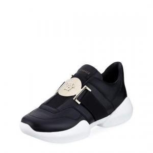 Versace Black Leather Medusa Head Sneakers - 20% Off