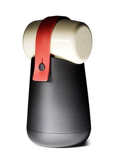Pot THERMOS for Nescafé | Designer: Jörg Boner | Photo: Milo Keller | The white cylinder on top separates into to cups