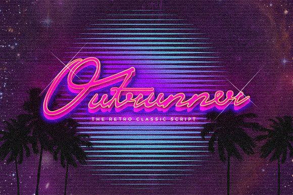 Outrunner Retro Script by TSV Creative on @creativemarket