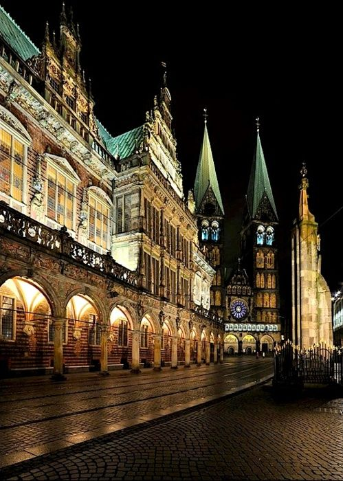 Bremen by night, Germany