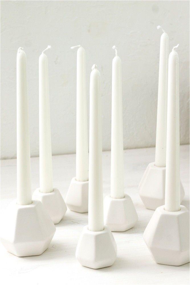 Белый керамический подсвечник, сет www.thekomillfocollection.ru
