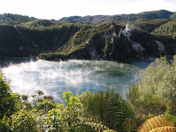 Озеро Frying Pan, Новая Зеландия - Путешествуем вместе