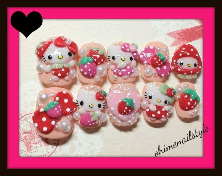 9 best Hello Kitty Nails images on Pinterest | Hello kitty nails ...