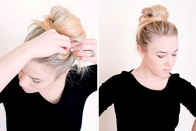Long-haired ladies, you need to bookmark this messy bun tutorial.