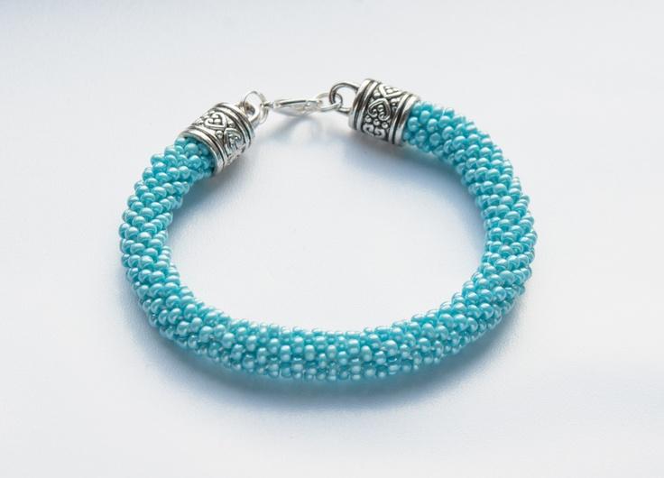 Hand made jewellery; bead crochet bracelet made by Natalia; www.facebook.com/BizuteriaLowyt