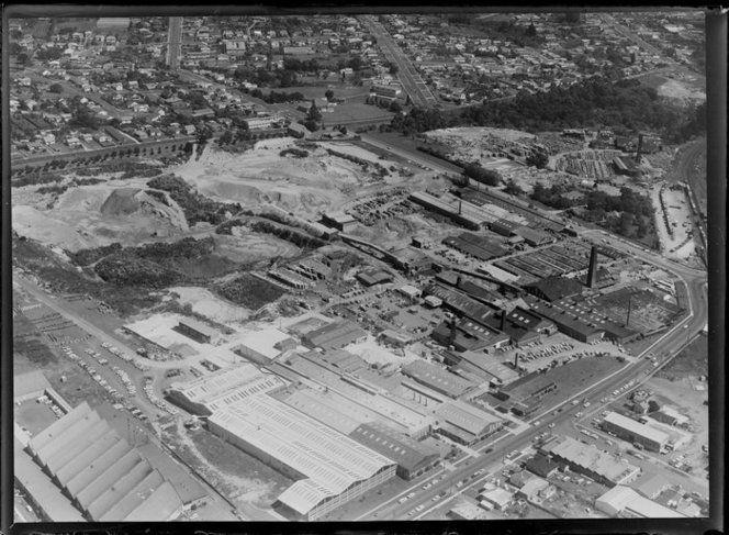 Crown Lynn Potteries Ltd, New Lynn, Waitakere, Auckland 1972 (looking west)