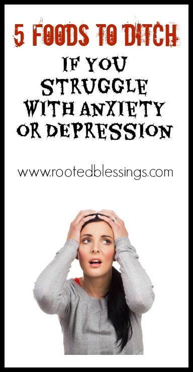 5 Foods to Ditch if You Struggle with Anxiety and Depression #anxiety #depression #realfood #health #healing
