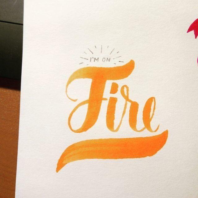 I'm on   Слушаю старые записи P.O.D. любимых. Второе дыхание появляется  когда возвращаюсь к тому  что любила подростком.  Масса вдохновения для меня.  #pod #music #lettering #calligraphy #fire #art #lovely #sketch #москва #вдохновение #леттеринг