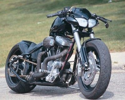 Buell Street Fighter Chopper by John Dawson. A totally mind-blowing chop of a sportbike, repleted with a MC Worx hardtail frame.