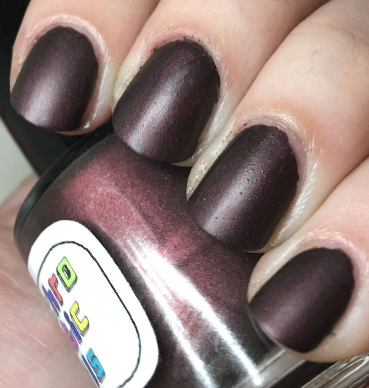 Not A Lady Nail Polish – matte/leather finish deep rusty red