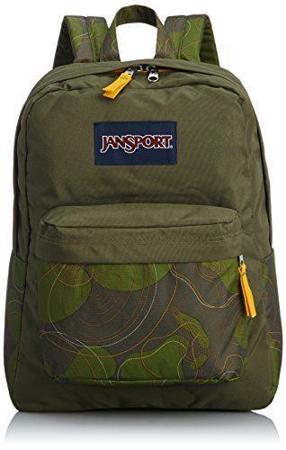 JanSport Superbreak Backpack  Green Machine Topo Camo  167H x 13W x 85D *** Check this awesome product by going to the link at the image.
