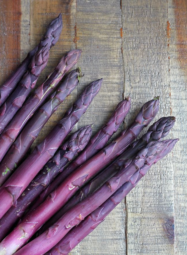 Purple asparagus is so gorgeous! So is Sonnet's blog.